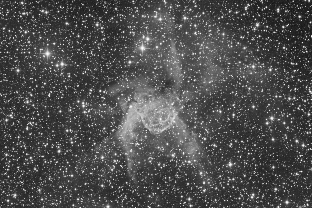 NGC 2359 black & white