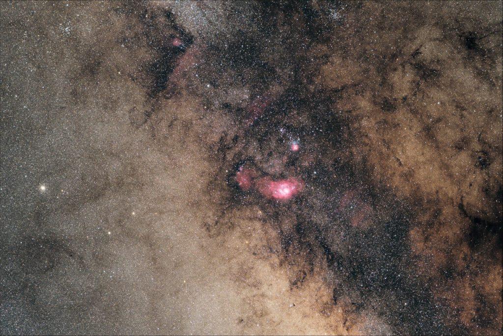 M8 & M20 (Sagittarius) Widefield
